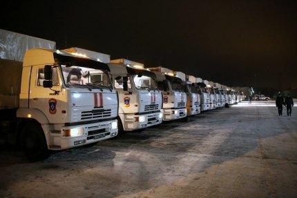 Россия отправила 39-й гумконвой на Донбасс
