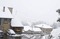 На юг Франции обрушился сильный снегопад