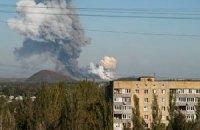 В Донецке слышны залпы и взрывы, - горсовет