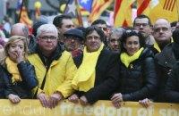 В Брюсселе десятки тысяч человек вышли на митинг в поддержку независимости Каталонии
