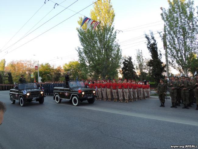 Репетиция парада российских оккупантов в Керчи, 4 мая 2019