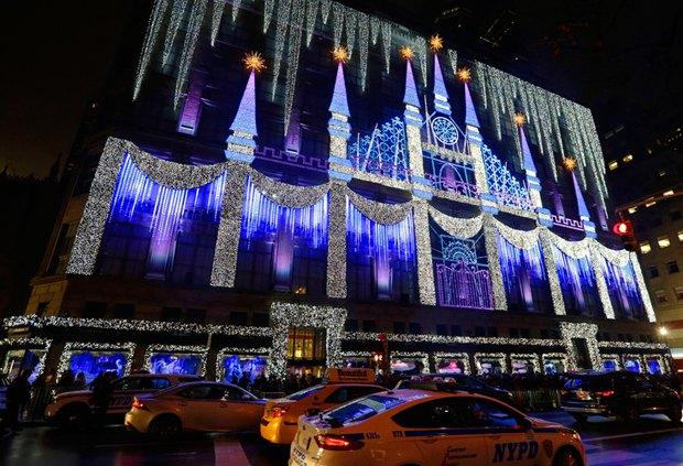 Новогодние декорации в Нью-Йорке