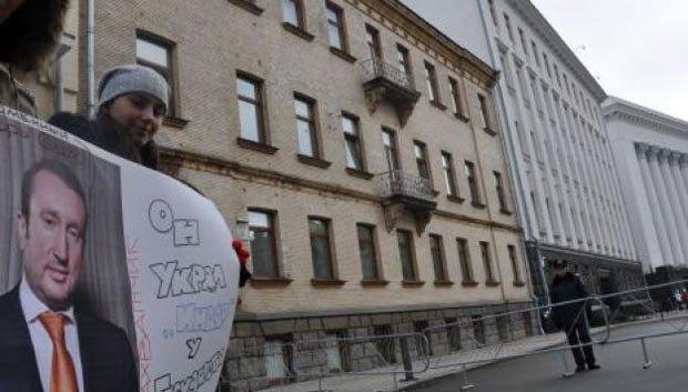 Акция протеста членов Украинского диабетического союза под стенами Администрации Президента