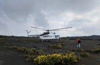 Українські льотчики посадили вертоліт на кратер найактивнішого вулкана Африки