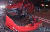 ДТП в Киеве: при столкновении четырех автомобилей пострадала беременная женщина
