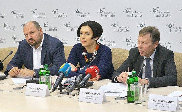 Борислав Розенблат, Соня Кошкіна, Сергій Соболєв (справа)