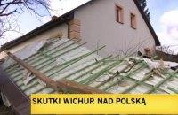 Десятки тисяч будинків залишилися знеструмленими через ураган у Польщі