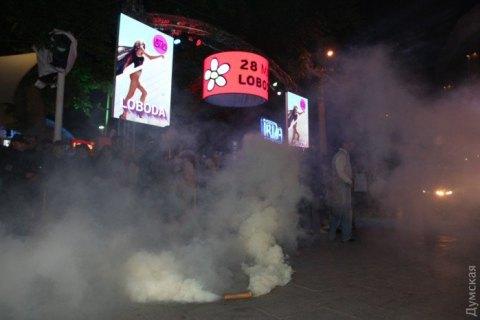 ВОдессе протестуют против гастролей эстрадной певицы Лободы, произошла потасовка