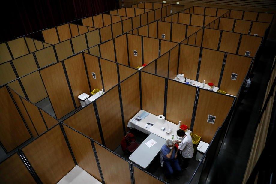 Центр вакцинації в Безьє, Франція, 18 січня 2021 року.