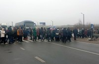 На Полтавщине протестующие перекрыли международную трассу с требованием снизить тарифы на газ