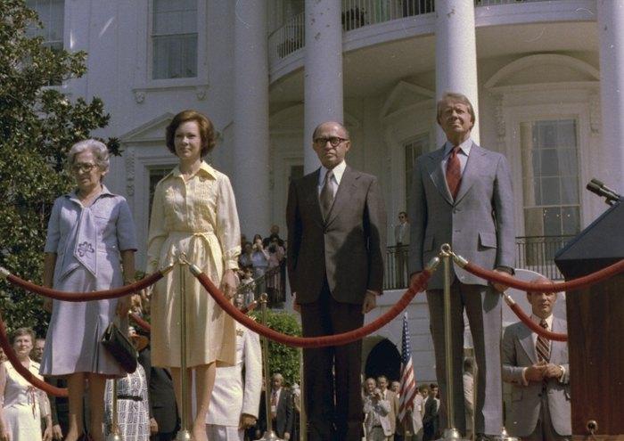 На встрече с президентом Картером в Белом Доме