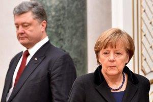 Порошенко і Меркель не бачать альтернативи Мінським домовленостям