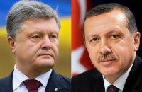 Порошенко договорился с Эрдоганом поднять украинский вопрос на саммите G-20
