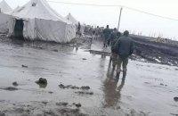 В Николаевской области после схода снега военный полигон затопило грязью