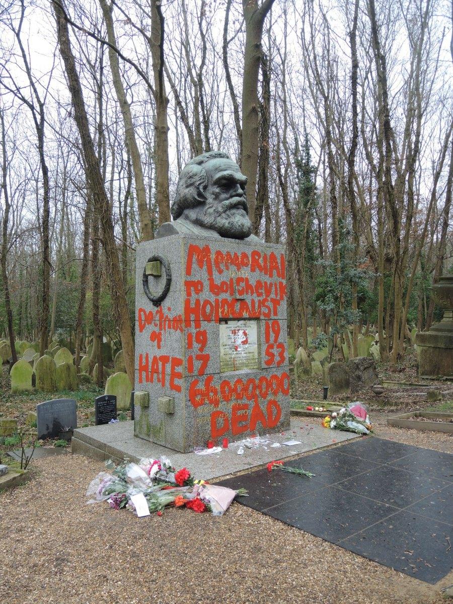 Могила Карла Маркса на Хайгейтському кладовищі в Лондоні