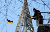 В Днепропетровске начали устанавливать главную елку области