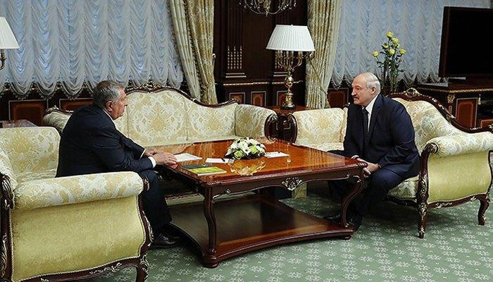 Переговоры Александра Лукашенко и Игоря Сечина в Минске, 18 февраля 2020.