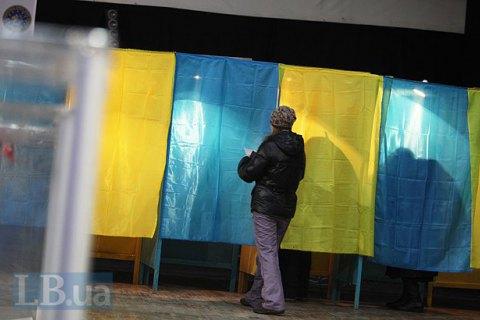 Голосованиеу проходит в201 теробщине— Выборы вгосударстве Украина
