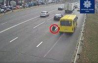 У Києві в маршрутки на ходу відвалилося колесо