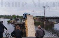 У Дніпропетровській області в річку впав міст, коли по ньому проїжджала фура (оновлено)