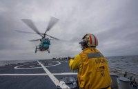 Авіація українських ВМС і військовий корабель США провели тренування в Чорному морі