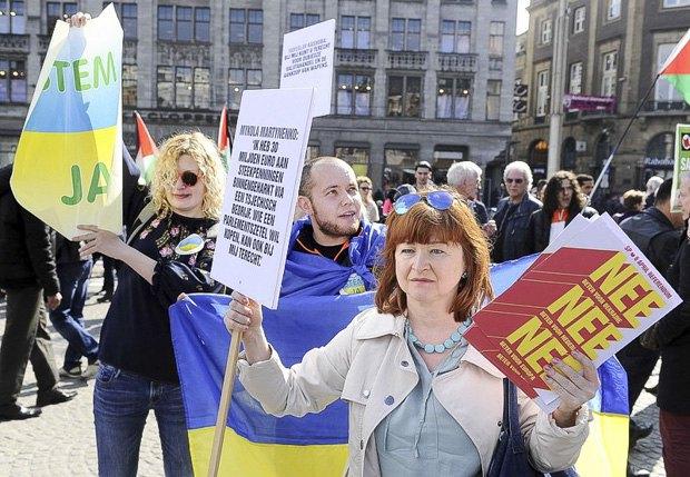Митинг в поддержку договора об ассоциации с Украиной на предстоящем референдуме, Амстердам, 03 апреля 2016 г.