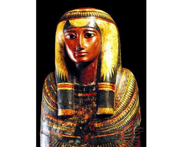 Саркофаг и мумия Шамоненсу, Египет, Третий переходный период, XXIII династия, ок. 750 до н.э.