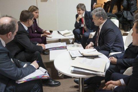 Порошенко обговорив з віце-президентами Єврокомісії введення безвізового режиму