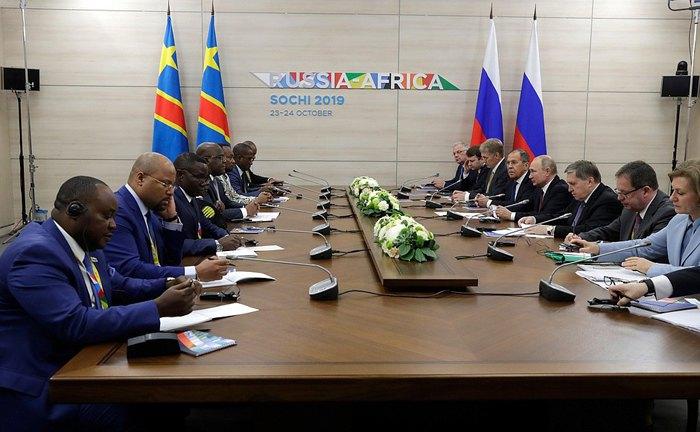 Встреча с Президентом Демократической Республики Конго Феликсом Чисекеди.
