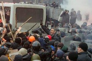 Міліція повідомляє про перших затриманих на Грушевського