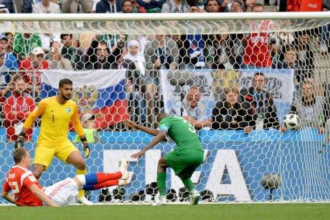 Федерація футболу Саудівської Аравії оштрафує гравців національної збірної за розгромну поразку від Росії