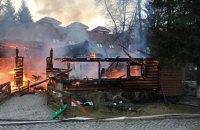 В Закарпатской области полностью сгорел деревянный ресторан