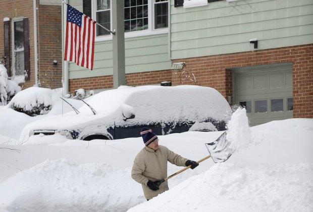 Снежные завалы в Виргинии