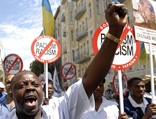 Мигранты из стран Африки считают, что в Украине присутствуют признаки дискриминации по расовому признаку. На фото - акция протеста в Киеве