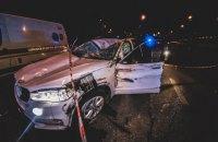 П'яна компанія на BMW X5 перекинулася під час спроби втекти від поліції у Києві