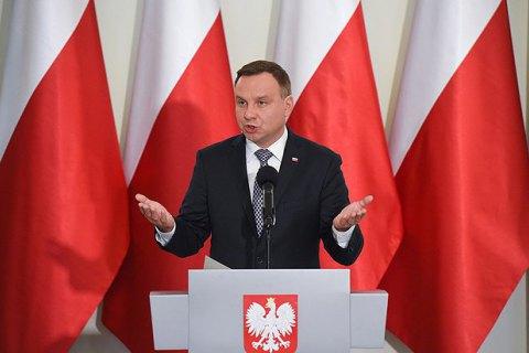 Дуда: Польша адекватно отреагировала на провокационные заявления Путина