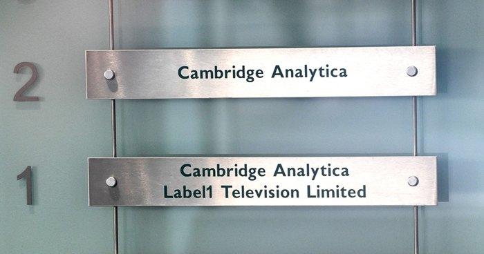 В офисе Cambridge Analytica в Лондоне