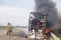 """В Одеській області під час руху загорівся """"Неоплан"""" із 60-ма пасажирами"""