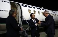 Первый за 12 лет пассажирский самолет прибыл из Греции в Македонию