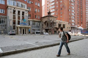 В Донецке продолжается стрельба