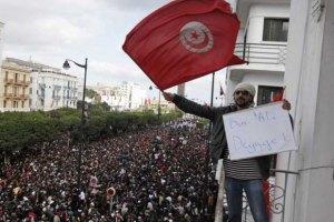 В Тунисе полиция разогнала антиамериканскую акцию протеста