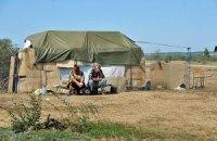 Переселенцы из Крыма и Донбасса протестовали под Кабмином
