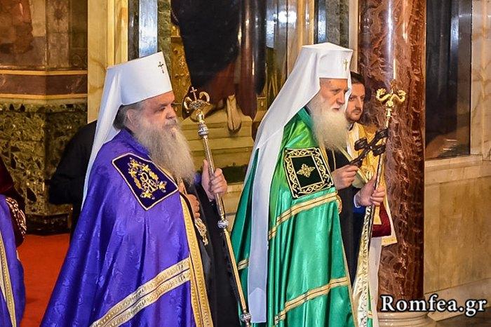 Болгарский патриарх Неофита и Македонский архиепископ Стефан
