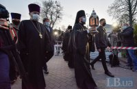 В Киево-Печерскую лавру привезли благодатный огонь из Иерусалима