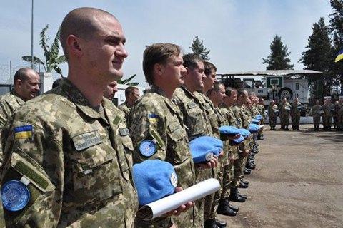Украина рассчитывает получить 566 млн гривен за участие в миротворческих миссиях ООН