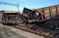 Біля Львова з рейок зійшли вантажні вагони