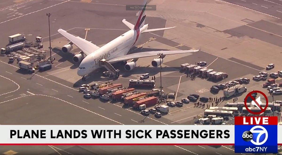 Самолет совершил экстренную посадку из-за лихорадки наборту