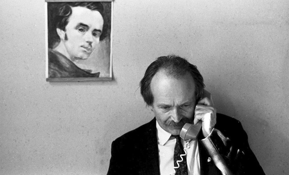В'ячеслав Чорновіл, вересень 1990 року, Львів.