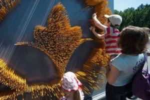 У ботсаду Києва створили лілію з олівців