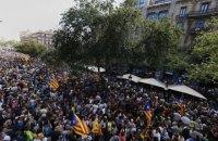 Десятки тысяч жителей Каталонии вышли на акции протеста
